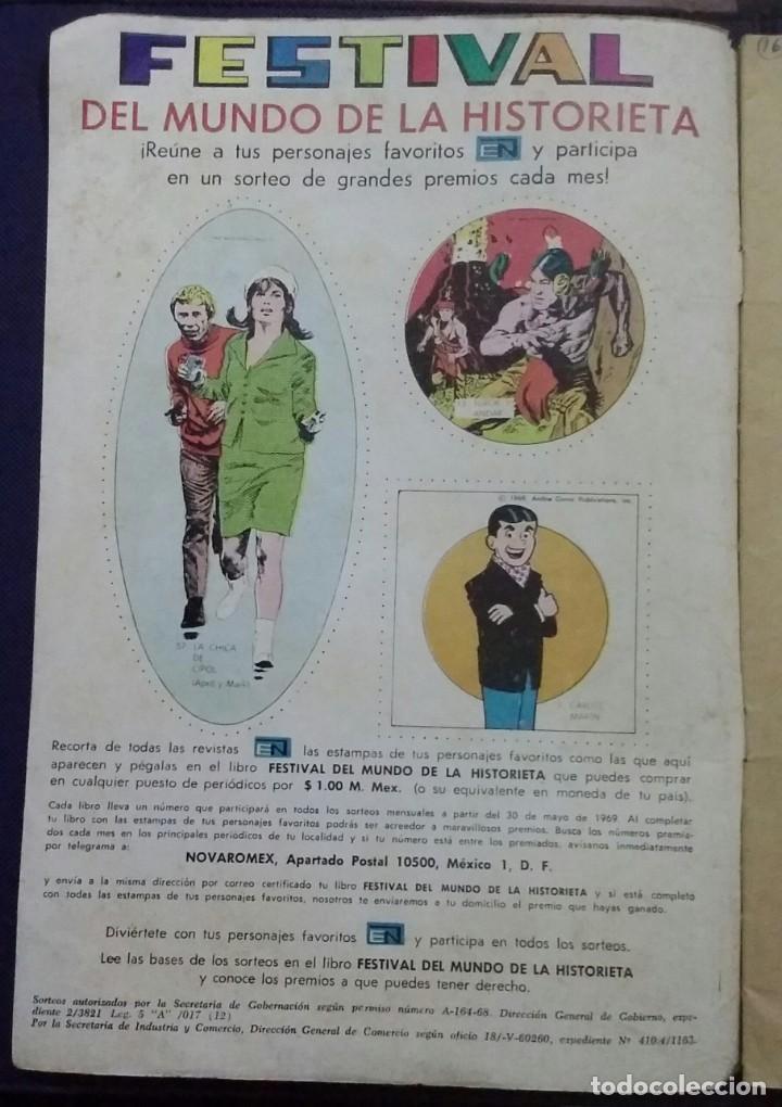 Tebeos: CÓMIC 1969 EL SUPER RATÓN Y LAS URRACAS PARLANCHINAS. FESTIVAL D MUNDO D LA HISTORIETA. TEBEO NOVARO - Foto 5 - 199728455