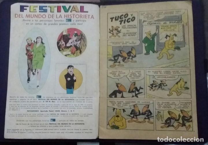 Tebeos: CÓMIC 1969 EL SUPER RATÓN Y LAS URRACAS PARLANCHINAS. FESTIVAL D MUNDO D LA HISTORIETA. TEBEO NOVARO - Foto 6 - 199728455
