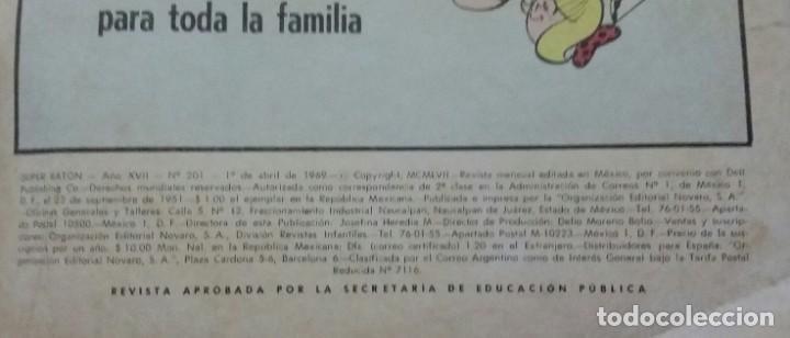 Tebeos: CÓMIC 1969 EL SUPER RATÓN Y LAS URRACAS PARLANCHINAS. FESTIVAL D MUNDO D LA HISTORIETA. TEBEO NOVARO - Foto 3 - 199728671