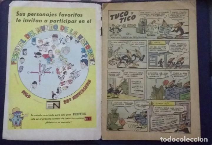 Tebeos: CÓMIC 1969 EL SUPER RATÓN Y LAS URRACAS PARLANCHINAS. FESTIVAL D MUNDO D LA HISTORIETA. TEBEO NOVARO - Foto 5 - 199728671