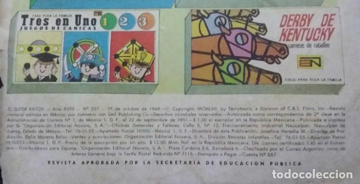 Tebeos: CÓMIC 1969 EL SUPER RATÓN Y LAS URRACAS PARLANCHINAS. FESTIVAL D MUNDO D LA HISTORIETA. TEBEO NOVARO - Foto 4 - 199729056