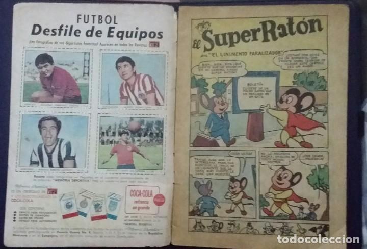 Tebeos: CÓMIC 1968 EL SUPER RATÓN. FUTBOL. DESFILE DE EQUIPOS. TEBEO No. 196. EDITORIAL NOVARO - Foto 3 - 199729902