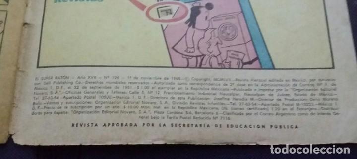 Tebeos: CÓMIC 1968 EL SUPER RATÓN. FUTBOL. DESFILE DE EQUIPOS. TEBEO No. 196. EDITORIAL NOVARO - Foto 5 - 199729902