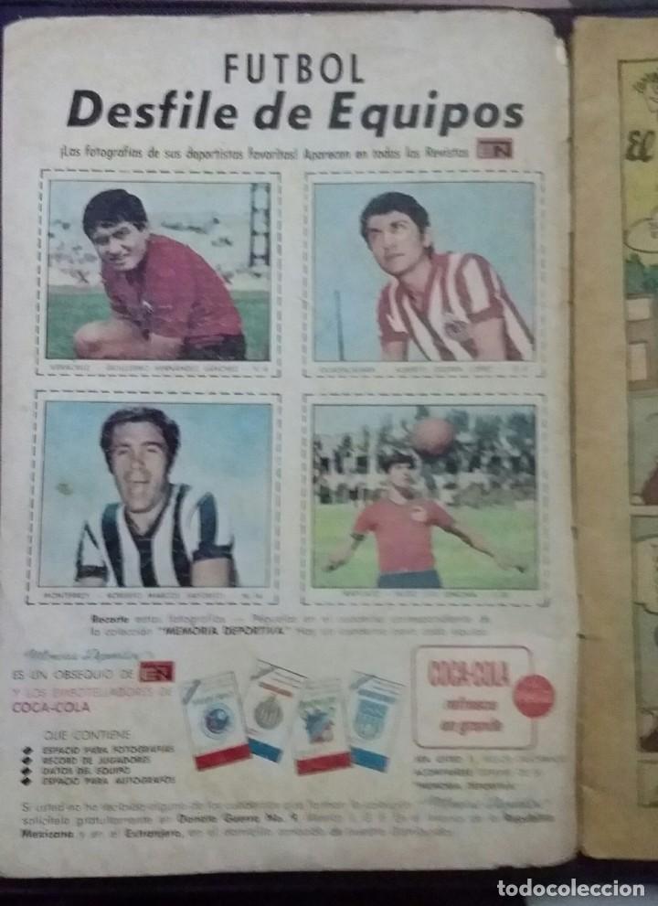 Tebeos: CÓMIC 1968 EL SUPER RATÓN. FUTBOL. DESFILE DE EQUIPOS. TEBEO No. 196. EDITORIAL NOVARO - Foto 7 - 199729902