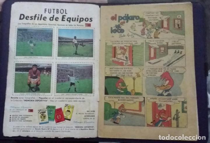 Tebeos: CÓMIC 1968 EL PÁJARO LOCO. FUTBOL. DESFILE DE EQUIPOS. TEBEO No. 301. EDITORIAL NOVARO. - Foto 3 - 199730983