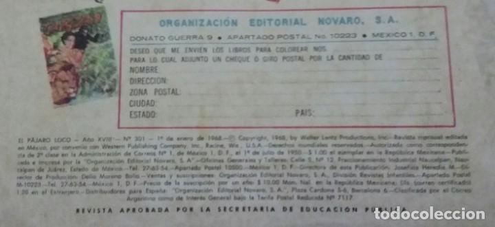 Tebeos: CÓMIC 1968 EL PÁJARO LOCO. FUTBOL. DESFILE DE EQUIPOS. TEBEO No. 301. EDITORIAL NOVARO. - Foto 4 - 199730983