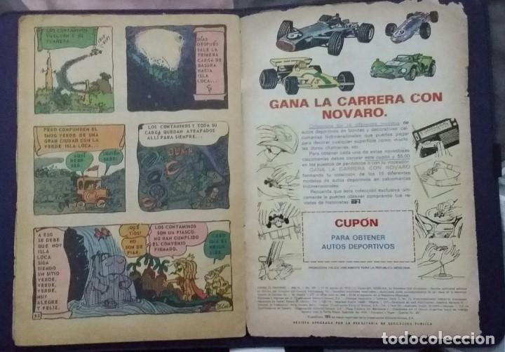 Tebeos: CÓMIC 1972 DANIEL EL TRAVIESO. SUPERTRIÁNGULOS.TEBEO No. 105. EDT. NOVARO. NO CONTAMINE EL AMBIENTE - Foto 4 - 199732188