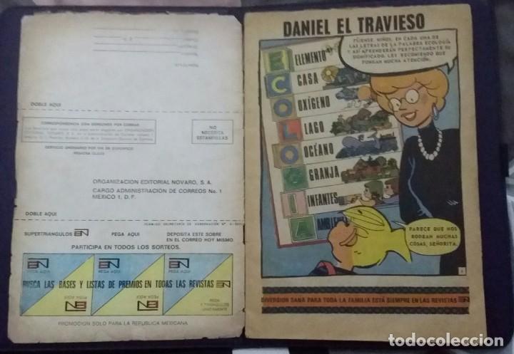 Tebeos: CÓMIC 1972 DANIEL EL TRAVIESO. SUPERTRIÁNGULOS.TEBEO No. 105. EDT. NOVARO. NO CONTAMINE EL AMBIENTE - Foto 5 - 199732188