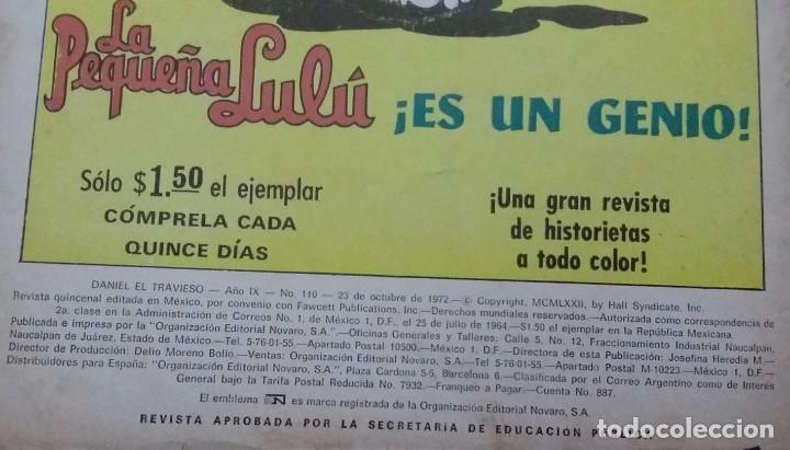 Tebeos: CÓMIC 1972 DANIEL EL TRAVIESO. TEBEO No. 110 EDITORIAL NOVARO. - Foto 4 - 199739677