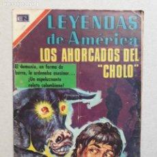 Tebeos: LEYENDAS DE AMÉRICA N° 186 - LOS AHORCADOS DEL CHOLO - ORIGINAL EDITORIAL NOVARO. Lote 200792267