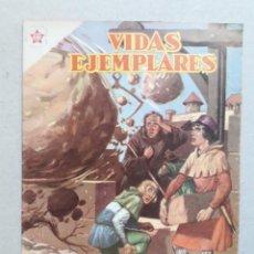 Tebeos: VIDAS EJEMPLARES N° 75 - SAN FRANCISCO DE PAULA - ORIGINAL EDITORIAL NOVARO. Lote 201098397