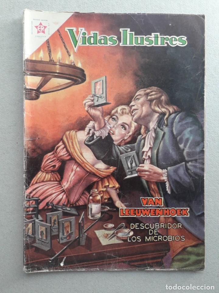 VIDAS ILUSTRES N° 54 - VAN LEEUWENHOEK DESCUBRIDOR DE LOS MICROBIOS - ORIGINAL EDITORIAL NOVARO (Tebeos y Comics - Novaro - Vidas ilustres)