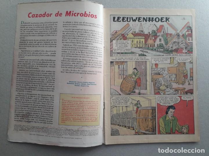 Tebeos: Vidas ilustres n° 54 - Van Leeuwenhoek descubridor de los microbios - original editorial Novaro - Foto 2 - 201518907