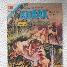 Tebeos: KORAK EL HIJO DE TARZAN. EDGAR RICE BURROUGHS. EDITORIAL NOVARO, SERIE AGUILA Nº 50. AÑO 1976. COLOR. Lote 201727630