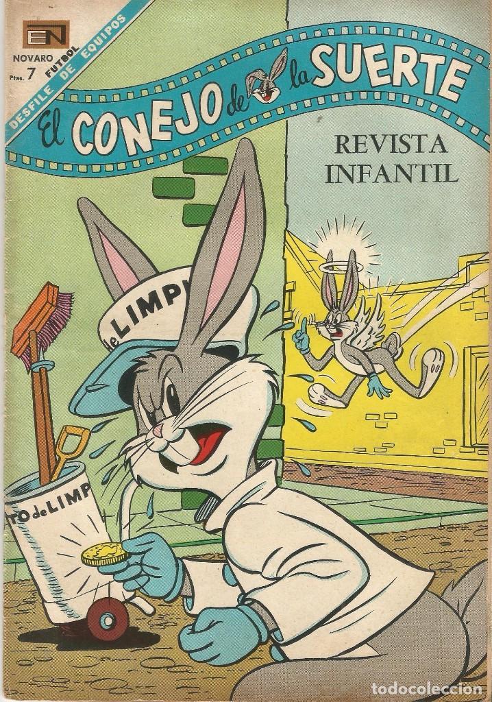 BUGS EL CONEJO DE LA SUERTE Nº 284 ED NOVARO AÑO 1968 FOTOS FUTBOL MEMORIA DEPORTIVA (Tebeos y Comics - Novaro - El Conejo de la Suerte)