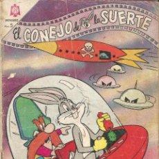 Tebeos: TEBEO COMIC BUCS EL CONEJO DE LA SUERTE ED NOVARO Nº 227 AÑO 1965 PUBLICIDAD CHICLE ADAMS. Lote 202085636