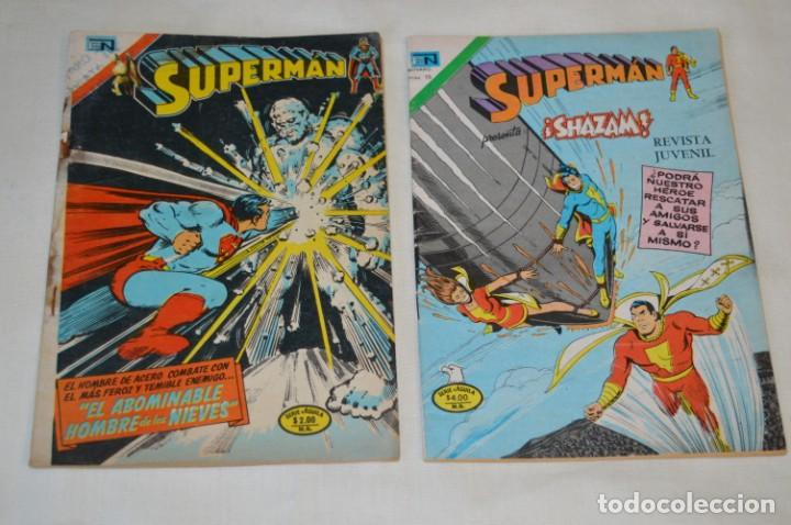 SERIE AGUILA / NOVARO - AÑOS 70 / 2 EJEMPLARES DE SUPERMAN - ¡MIRA FOTOS Y DETALLES! (Tebeos y Comics - Novaro - Superman)