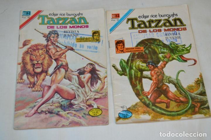 SERIE AGUILA / NOVARO - AÑOS 70 / 2 EJEMPLARES DE TARZAN - ¡MIRA FOTOS Y DETALLES! (Tebeos y Comics - Novaro - Tarzán)