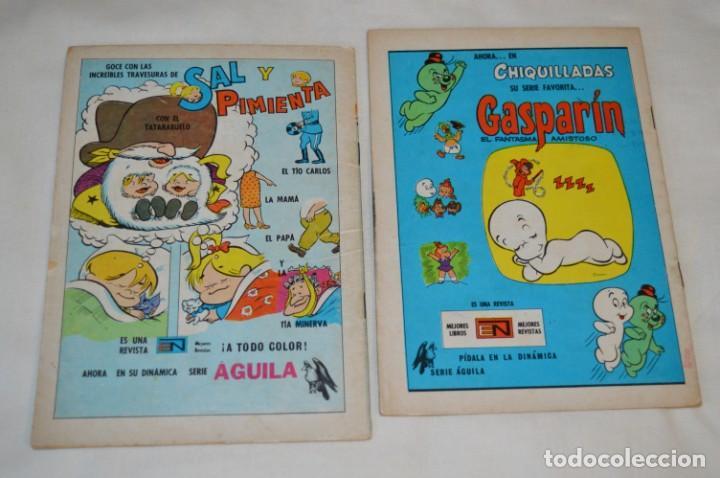 Tebeos: Serie AGUILA / NOVARO - Años 70 / 2 Ejemplares EL CONEJO de la SUERTE - ¡Mira fotos y detalles! - Foto 2 - 202702062