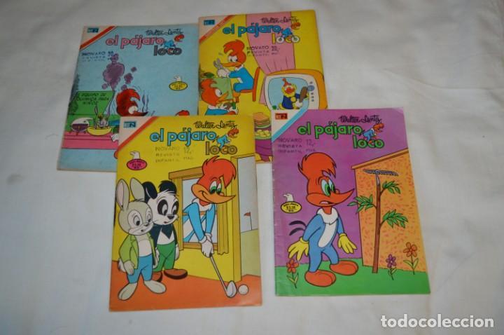 SERIE AGUILA / NOVARO - AÑOS 70 / 4 EJEMPLARES EL PÁJARO LOCO - ¡MIRA FOTOS Y DETALLES! (Tebeos y Comics - Novaro - Otros)