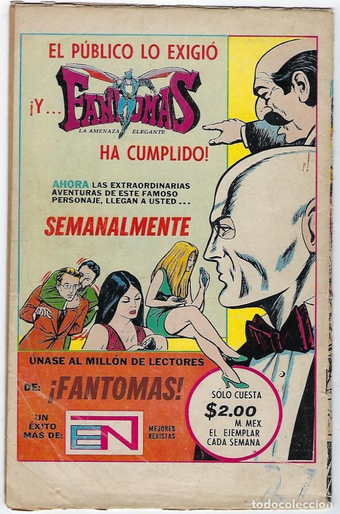 Tebeos: BATMAN - EL HOMBRE MURCIÉLAGO, AÑO XXII, Nº 736, JULIO 26 DE 1974 ***EDITORIAL NOVARO*** - Foto 2 - 202983610