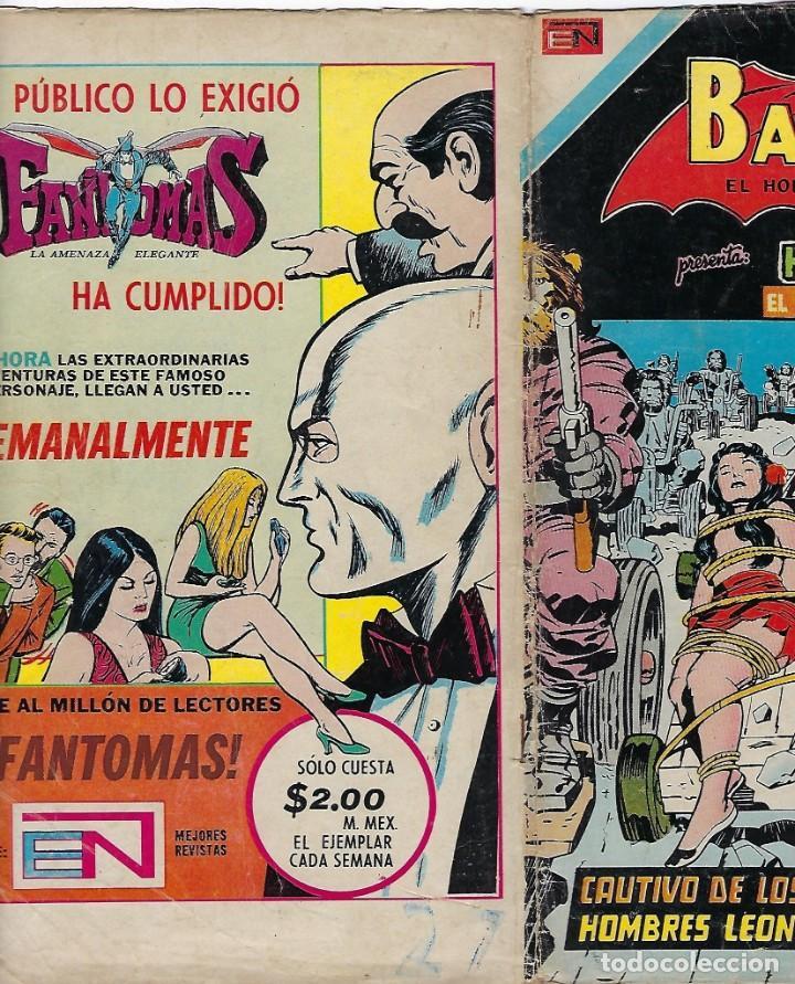 Tebeos: BATMAN - EL HOMBRE MURCIÉLAGO, AÑO XXII, Nº 736, JULIO 26 DE 1974 ***EDITORIAL NOVARO*** - Foto 3 - 202983610