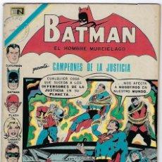 Tebeos: BATMAN - EL HOMBRE MURCIÉLAGO, AÑO XX, Nº 607, DICIEMBRE 9 DE 1971 ***EDITORIAL NOVARO***. Lote 202987757