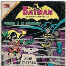 Tebeos: BATMAN - EL HOMBRE MURCIÉLAGO, AÑO XVII, Nº 481, MAYO 29 DE 1969 ***EDITORIAL NOVARO***. Lote 202988985