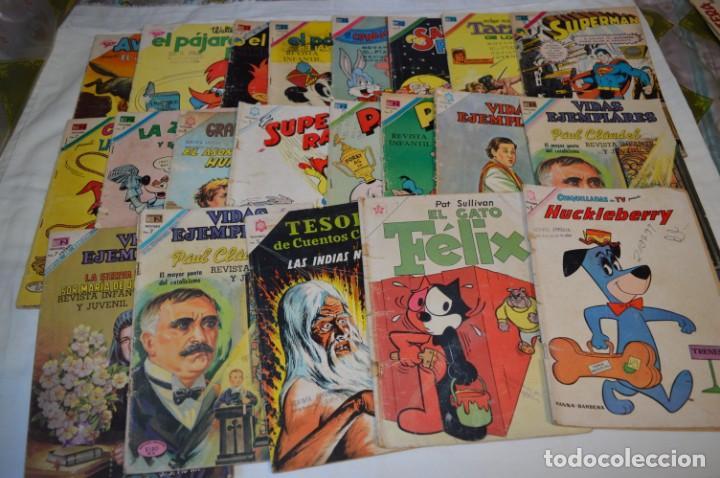 22 TEBEOS / COMICS -- NOVARO / SEA -- ANTIGUOS / DIFERENTES ÉPOCAS, PERSONAJES Y TÍTULOS - ¡MIRA! (Tebeos y Comics - Novaro - Otros)
