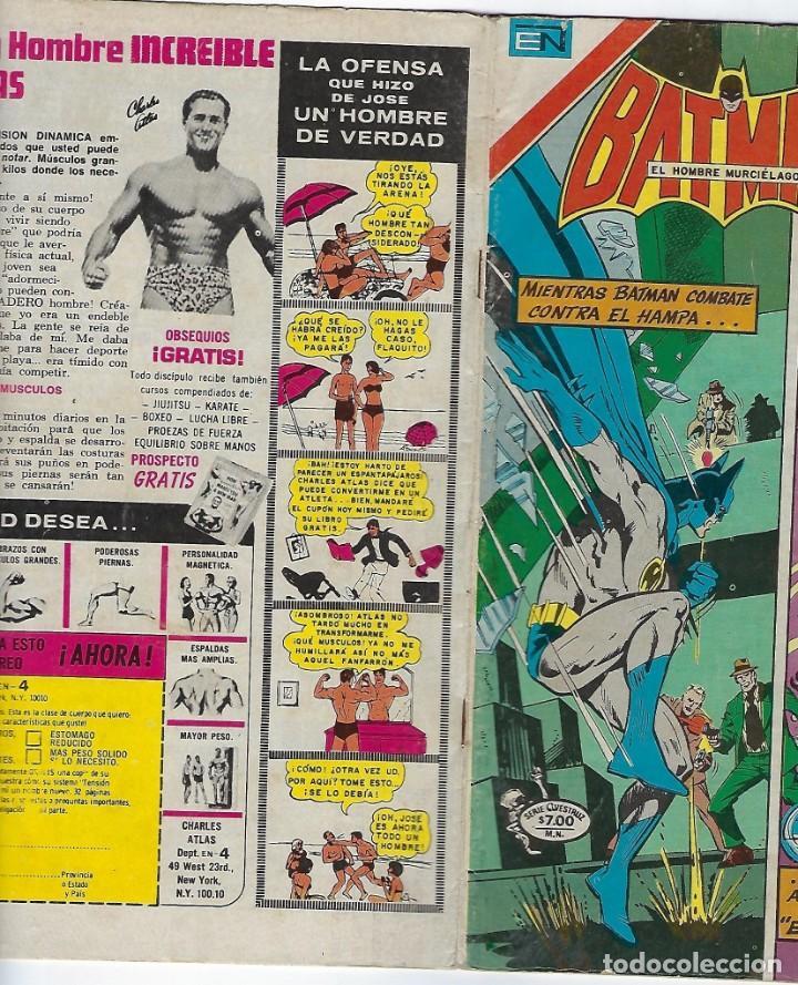 Tebeos: BATMAN - SERIE AVESTRUZ - AÑO I - Nº 3-4, ABRIL 1º DE 1981 ***EDITORIAL NOVARO MEXICO*** - Foto 3 - 203995638