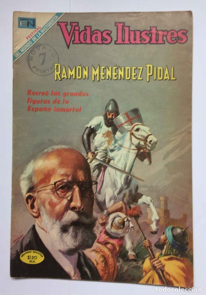 CÓMIC: RAMÓN MENÉNDEZ PIDAL (EDIT. NOVARO -MÉXICO-) 1969, Nº 215 ¡ORIGINAL! ¡COLECCIONISTA! (Tebeos y Comics - Novaro - Vidas ilustres)
