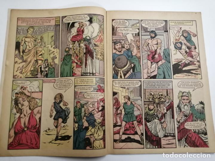 Tebeos: Vidas Ilustres. Sócrates. Año III nº30 1958 México. Ed.: Novaro. Post encuadernado. - Foto 3 - 204989190