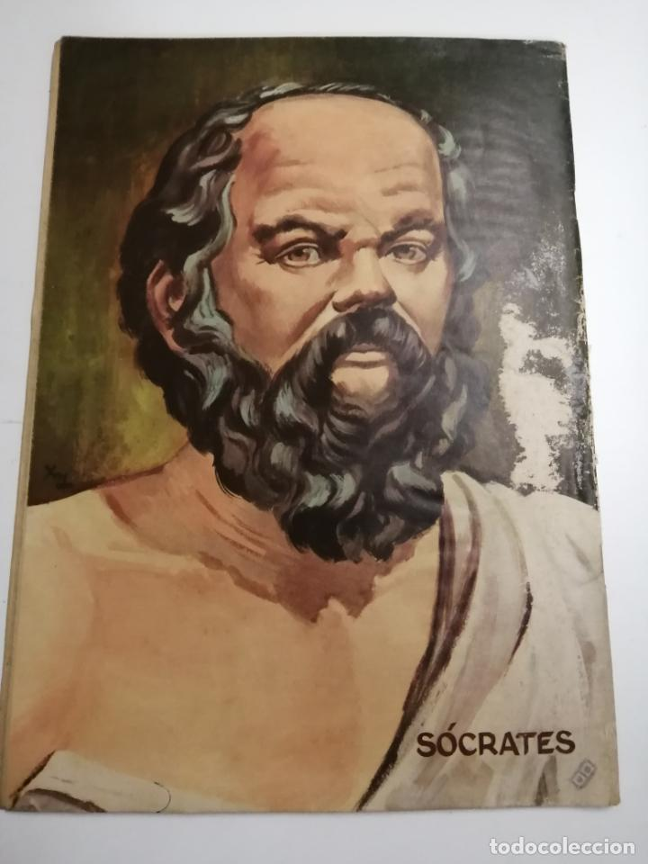 Tebeos: Vidas Ilustres. Sócrates. Año III nº30 1958 México. Ed.: Novaro. Post encuadernado. - Foto 6 - 204989190