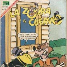 Tebeos: LA ZORRA Y EL CUERVO REVISTA INFANTIL TEBEO COMIC ED EN NOVARO Nº 201 AÑO 1967. Lote 205129293