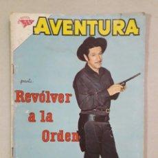 Tebeos: AVENTURA N° 205 - REVÓLVER A LA ORDEN - ORIGINAL EDITORIAL NOVARO. Lote 205327248