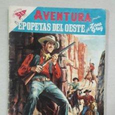 Tebeos: AVENTURA N° 95 - EPOPEYAS DEL OESTE, POR ZANE GREY - ORIGINAL EDITORIAL NOVARO. Lote 205327705