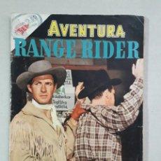 Tebeos: AVENTURA N° 38 - RANGE RIDER - ORIGINAL EDITORIAL NOVARO. Lote 205328022