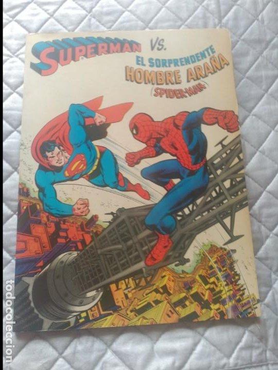 SUPERMÁN VS SPIDERMAN 225 PESETA EN EXCELENTE ESTADO. (Tebeos y Comics - Novaro - Superman)
