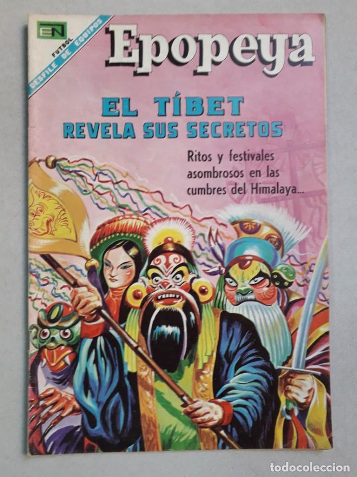 EPOPEYA N° 120 - EL TIBET REVELA SUS SECRETOS - ORIGINAL EDITORIAL NOVARO (Tebeos y Comics - Novaro - Epopeya)