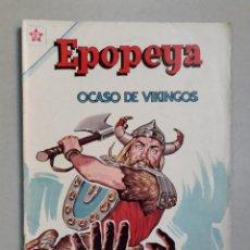 Tebeos: EPOPEYA N° 59 - OCASO DE VIKINGOS - ORIGINAL EDITORIAL NOVARO. Lote 205672053