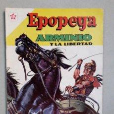 Tebeos: EPOPEYA N° 41 - RARO EJEMPLAR CON DOBLE PORTADA - ARMINIO Y LA LIBERTAD - ORIGINAL EDITORIAL NOVARO. Lote 205672593