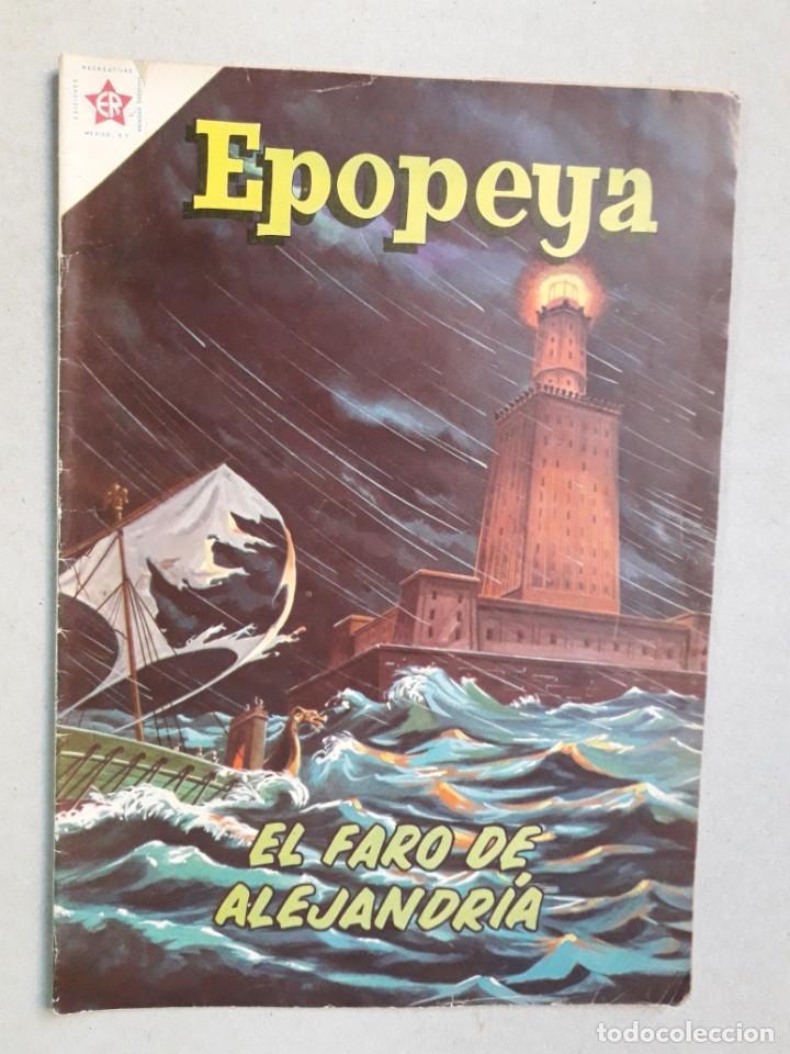 EPOPEYA N° 35 - EL FARO DE ALEJANDRÍA - ORIGINAL EDITORIAL NOVARO (Tebeos y Comics - Novaro - Epopeya)