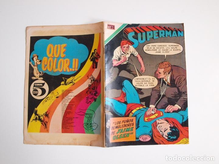 Tebeos: SUPERMÁN - Nº 791 - LOS PUÑOS DEMOLEDORES DE JAIME OLSEN - NOVARO 1970 - Foto 8 - 205717778