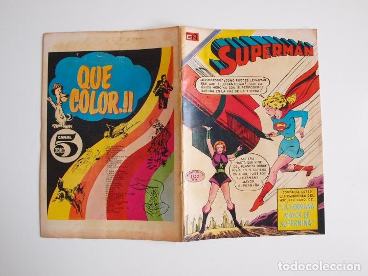 Tebeos: SUPERMÁN - Nº 792 - LA HERMANA MAYOR DE SUPERNIÑA - NOVARO 1970 - Foto 6 - 205718932