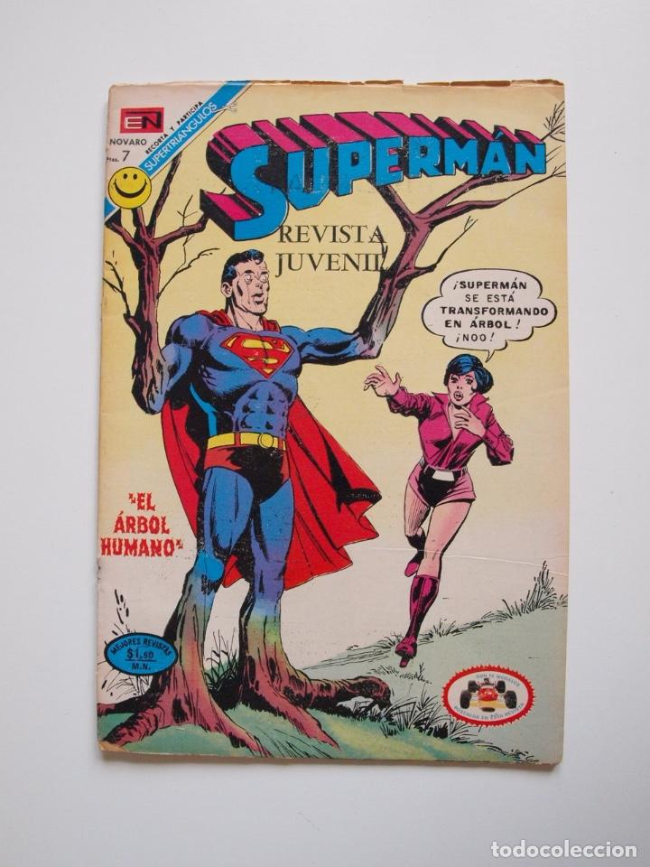 SUPERMÁN - Nº 876 - EL ÁRBOL HUMANO - LUISA LANE, ROSA Y ESPINA - NOVARO 1972 (Tebeos y Comics - Novaro - Superman)