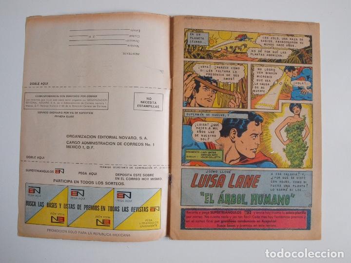 Tebeos: SUPERMÁN - Nº 876 - EL ÁRBOL HUMANO - LUISA LANE, ROSA Y ESPINA - NOVARO 1972 - Foto 2 - 205722215