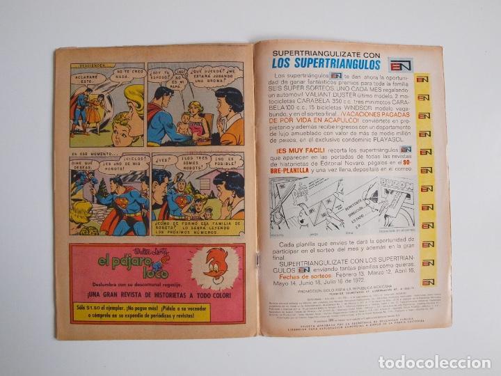 Tebeos: SUPERMÁN - Nº 876 - EL ÁRBOL HUMANO - LUISA LANE, ROSA Y ESPINA - NOVARO 1972 - Foto 4 - 205722215
