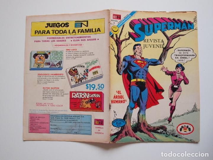 Tebeos: SUPERMÁN - Nº 876 - EL ÁRBOL HUMANO - LUISA LANE, ROSA Y ESPINA - NOVARO 1972 - Foto 6 - 205722215
