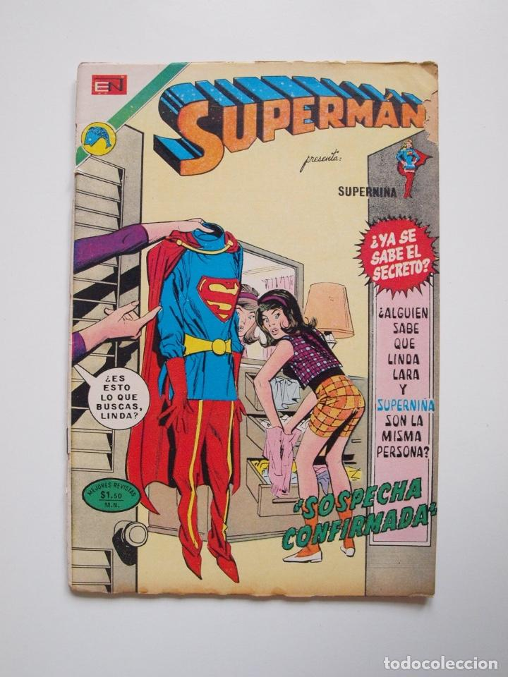 SUPERMÁN - Nº 888 - SOSPECHA CONFIRMADA - SUPERNIÑA, EL SEÑOR FISCAL - NOVARO 1972 (Tebeos y Comics - Novaro - Superman)