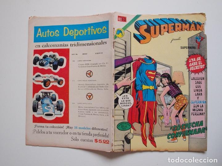 Tebeos: SUPERMÁN - Nº 888 - SOSPECHA CONFIRMADA - SUPERNIÑA, EL SEÑOR FISCAL - NOVARO 1972 - Foto 8 - 205723966